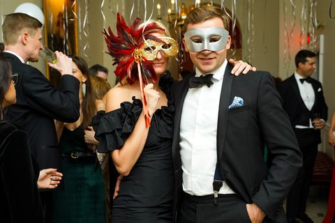 Event, Fashion, Formal wear, Fun, Suit, Smile, Mask, Costume, Tuxedo,