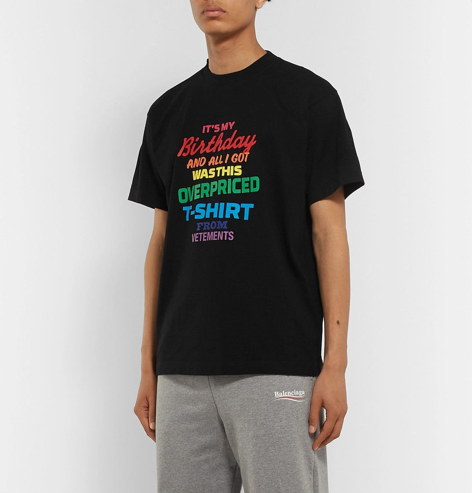 Vetements Wants Men to Buy a Ridiculous Birthday T-Shirt for $570