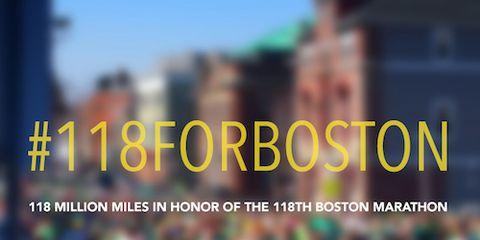 118 Miles for Boston Run Keeper Logo