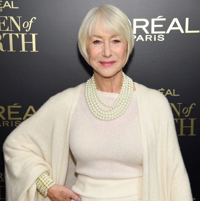 new york, new york   december 04 dame helen mirren attends the 14th annual loréal paris women of worth awards at the pierre on december 04, 2019 in new york city photo by lawrence busaccagetty images for loréal