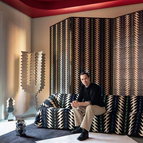 Interior design, Room, Furniture, Curtain, Textile, Architecture, Living room, Window covering, Interior design, Window treatment,