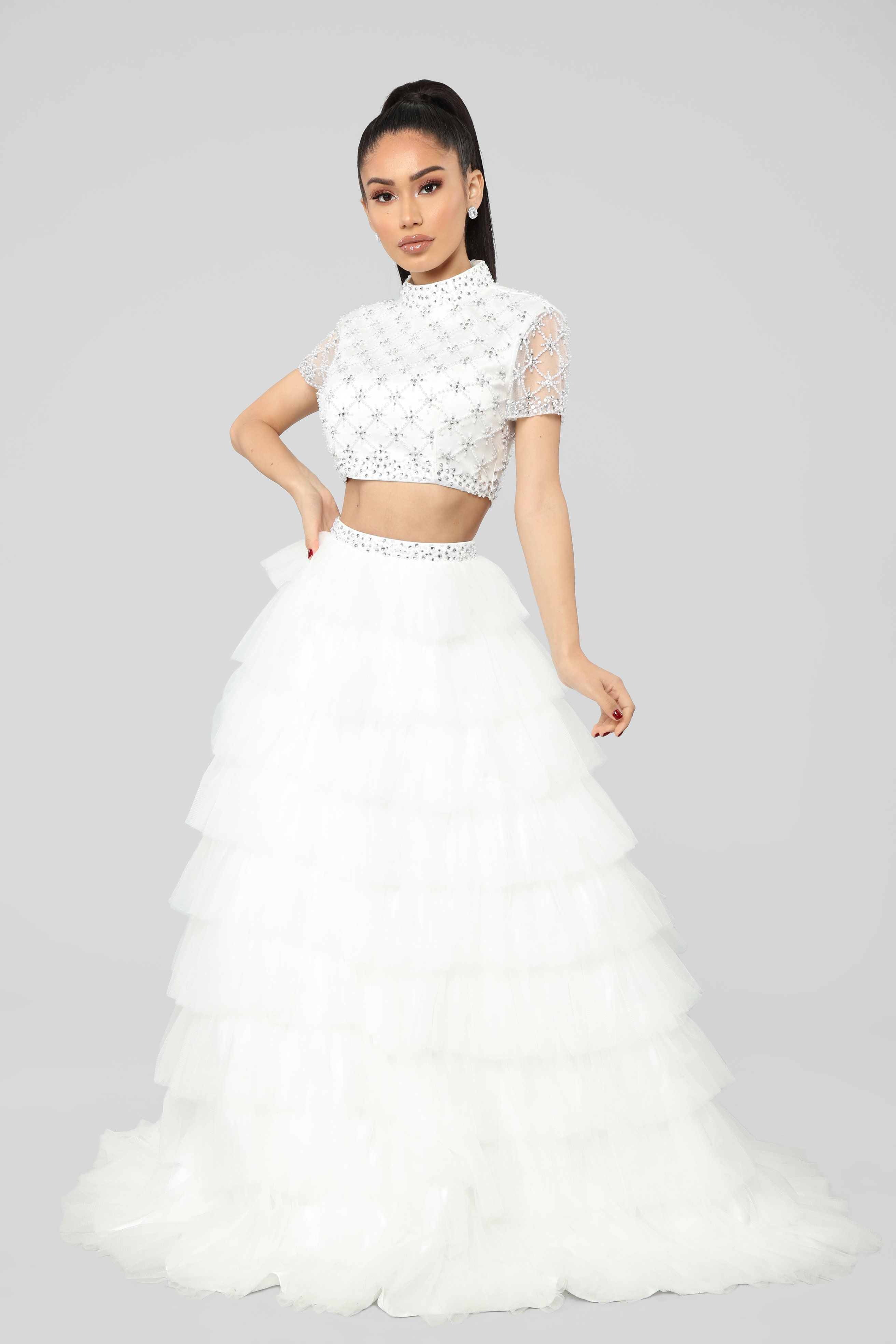 Best Two Piece Prom Dresses of 2019 \u2013 Stylish Crop Top Prom