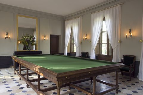 Billiard room, Billiard table, Furniture, Room, Pool, Recreation room, Games, English billiards, Snooker, Table,