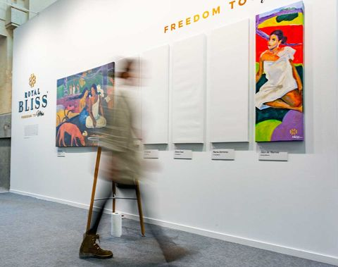 Art exhibition, Exhibition, Art, Visual arts, Modern art, Art gallery, Tourist attraction, Event, Advertising, Vernissage,
