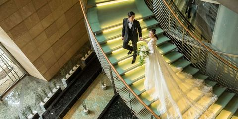 グラント ハイアット 東京での花嫁と花婿