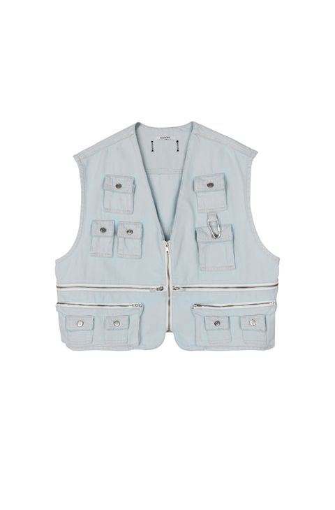Clothing, Outerwear, White, Vest, Personal protective equipment, Jacket, Pocket, Sleeve,