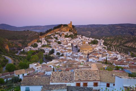 the hilltop village of montefrio, one of the many idyllic white washed hilltop villages los pueblos blancos to be found in andalusia, spain, granada province