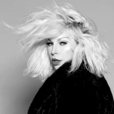 Hair, Face, Blond, White, Hairstyle, Eyebrow, Beauty, Black-and-white, Lip, Chin,
