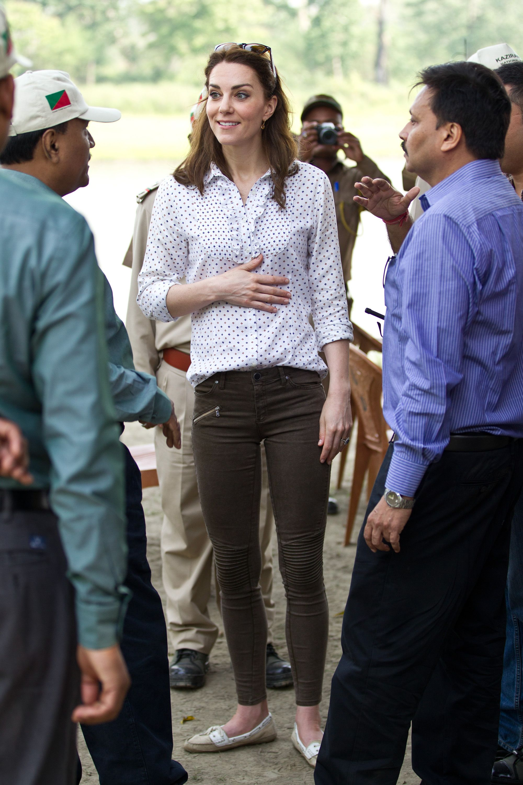 Shop Bow Sebago Bala Shoes, $95 For an open-air Jeep safari in India's Kaziranga National Park in April 2016 , Duchess Kate wore an affordable pair of boat shoes that she's re-worn multiple times since.