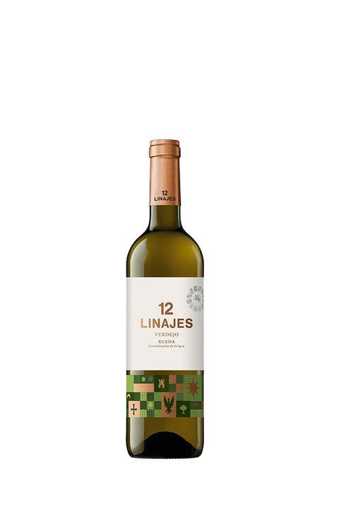 Botella de vino verdejo 12 Linajes.