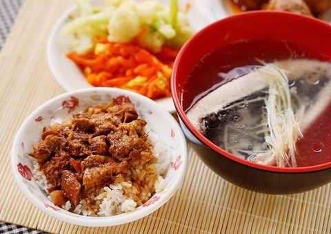 錦田肉燥飯、虱目魚湯