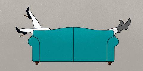 ソファと足のイラスト