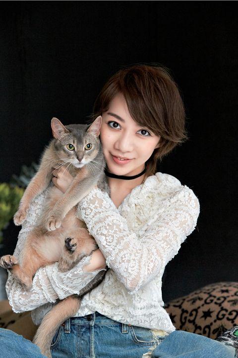 美弥るりかさんと猫のルシェちゃん