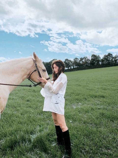 馬と紗栄子