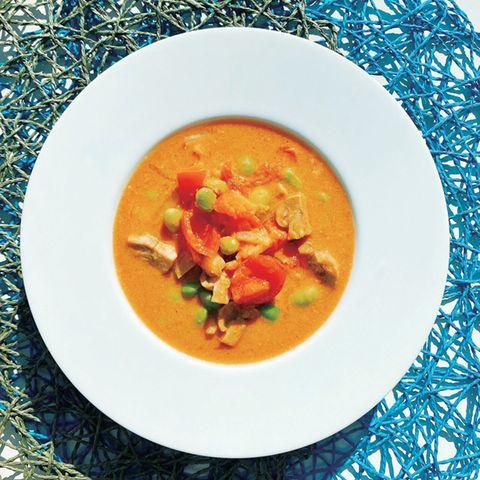 トマトカレーチーズスープ