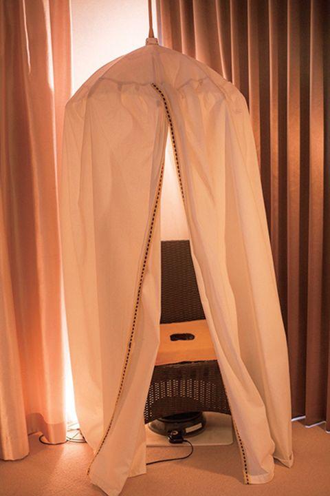 韓spaのトリートメントルームにあるヨモギ蒸しテント