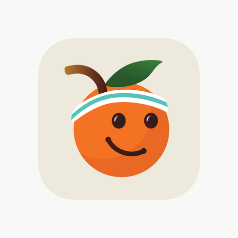 Facial expression, Smile, Orange, Emoticon, Fruit, Smiley, Logo, Icon, Plant, Illustration,