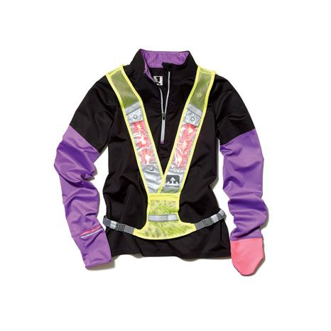New Balance NBx Prism Half-Zip and Nathan Photon L.E.D. Vest