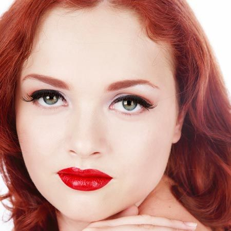 THE OLD RULE: Redheads can't wear red lipstick