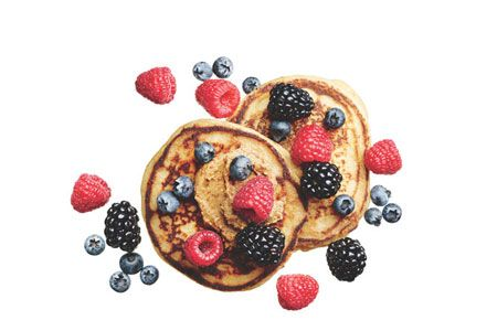 Breakfast: Pancakes with Almond Butter and Berries