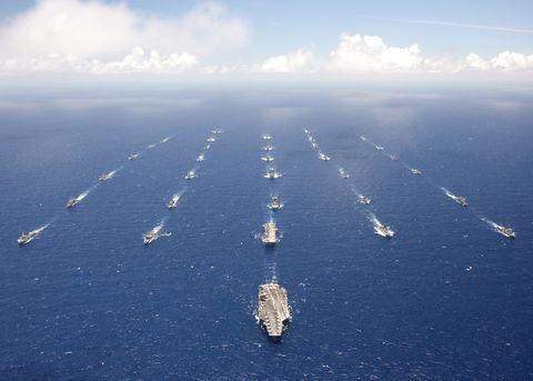 Sky, Aerial photography, Vehicle, Sea, Ocean, Watercraft, Ship, Continental shelf,