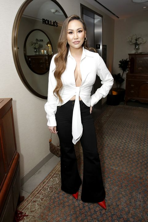 Clothing, White, Black, Beauty, Fashion, Outerwear, Long hair, Dress, Suit, Leg,