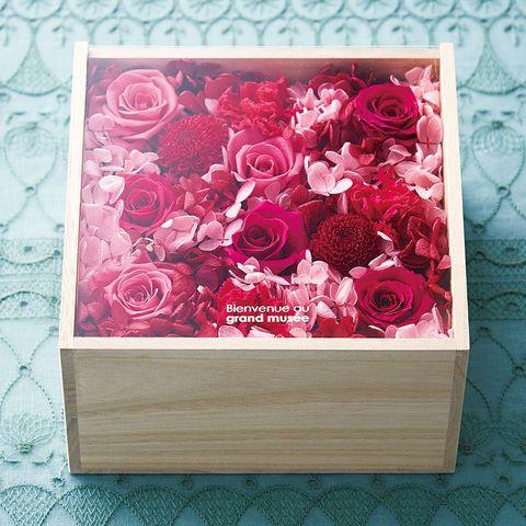 プリザーブドフラワーbox L ピンク