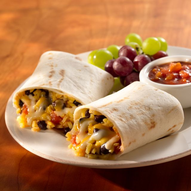 cheesy breakfast burrito