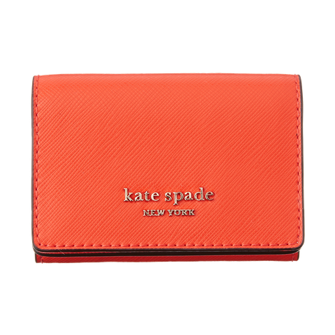 Wallet, Red, Orange, Coin purse, Fashion accessory, Leather, Rectangle, Material property, Brand,