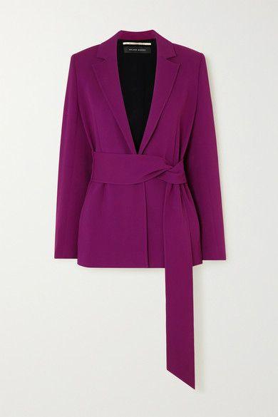 Roland Mouret Balair belted stretch-crepe blazer