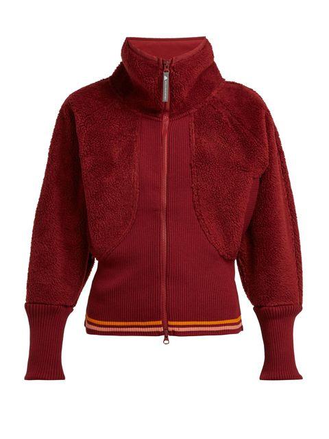 Clothing, Outerwear, Hood, Jacket, Red, Sleeve, Polar fleece, Zipper, Hoodie, Sweater,