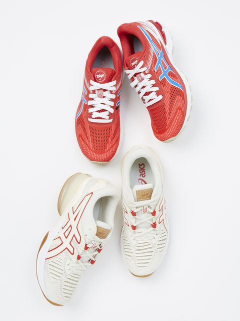 Footwear, Shoe, Red, Sneakers, Athletic shoe,