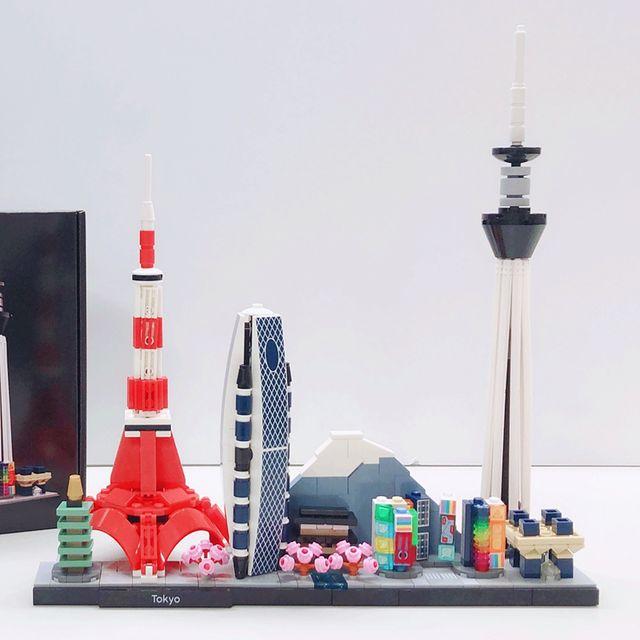 樂高推出建築系列-東京拼砌盒組!東京晴空塔、東京鐵塔、Mode 學園蟲繭大廈等等全到齊!