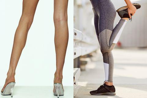 小腿肌,蘿蔔腿,運動,伸展,拉筋,肌肉線條,beauty