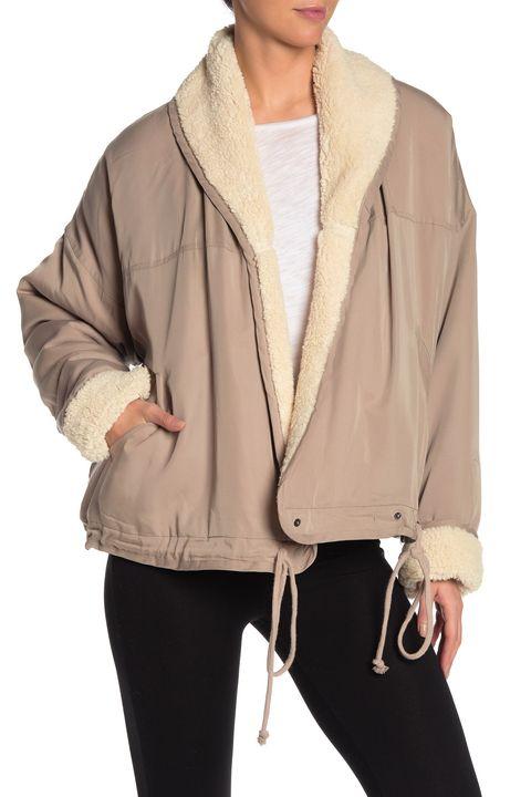 Clothing, Outerwear, Jacket, Hood, Sleeve, Beige, Fur, Brown, Neck, Coat,