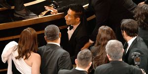 None of us noticed that Rami Malek fell off the stage after accepting his Best Actor Oscar