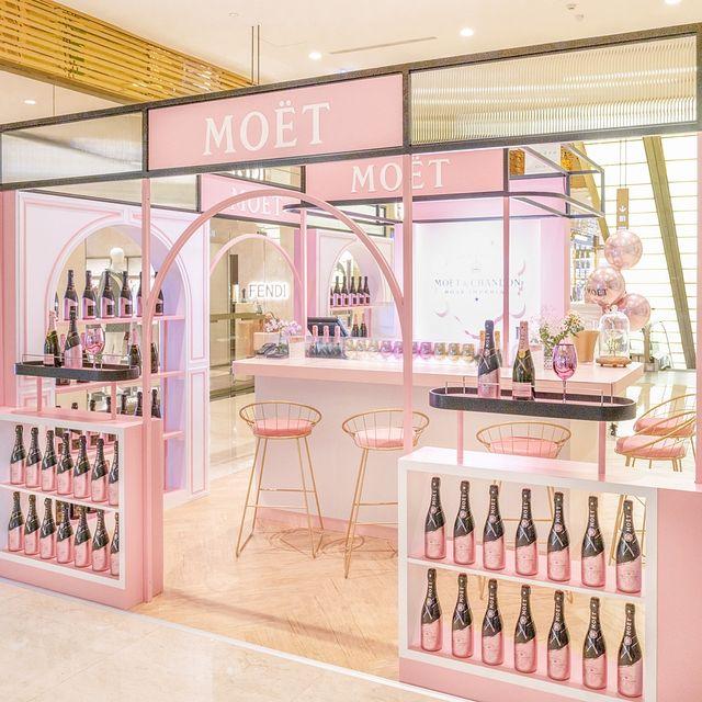 粉紅氣泡浪漫來襲!「酩悅香檳 粉紅pop up bar」台北快閃,冰品香檳調酒必喝