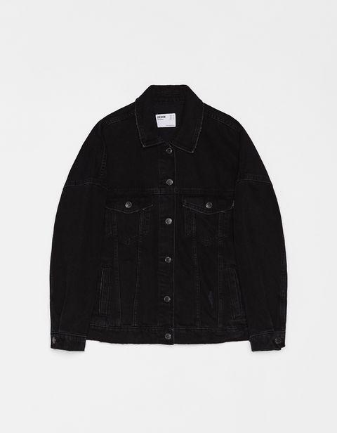 Clothing, Black, Outerwear, Jacket, Sleeve, Denim,