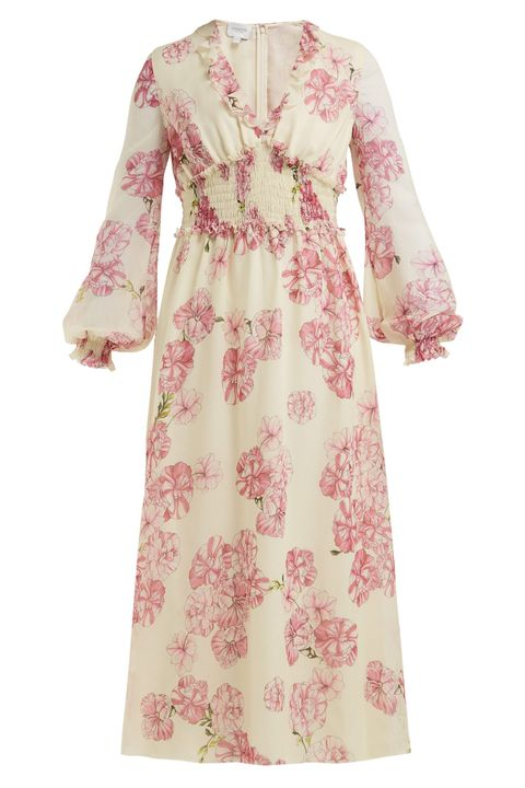 GIAMBATTISTA VALLI Peony-print silk-chiffon midi dress matches