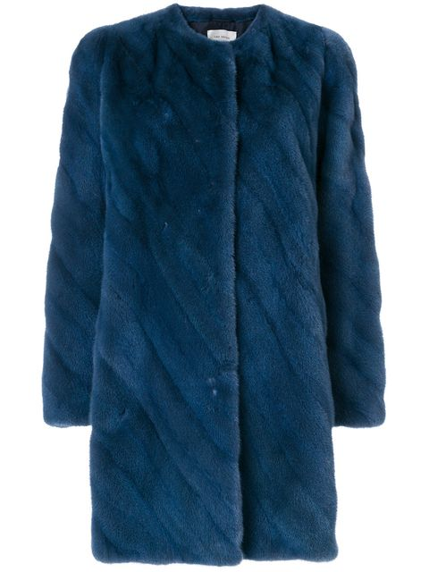Clothing, Outerwear, Blue, Cobalt blue, Turquoise, Fur, Sleeve, Teal, Electric blue, Coat,