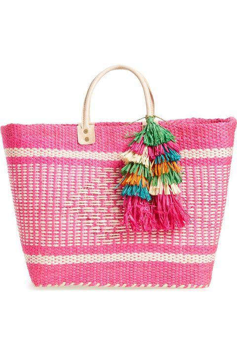 Handbag, Bag, Pink, Fashion accessory, Tote bag, Shoulder bag, Magenta, Pattern, Luggage and bags,
