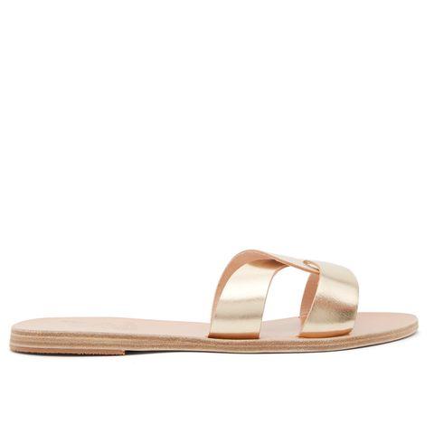 ancient greek sandals 金色涼拖
