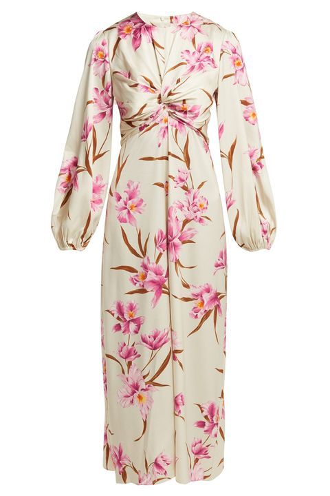 ZIMMERMANN Corsage orchid-print silk-blend midi dress matches
