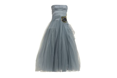 Dress, Clothing, Gown, Strapless dress, Bridal party dress, A-line, Cocktail dress, Formal wear, Day dress,
