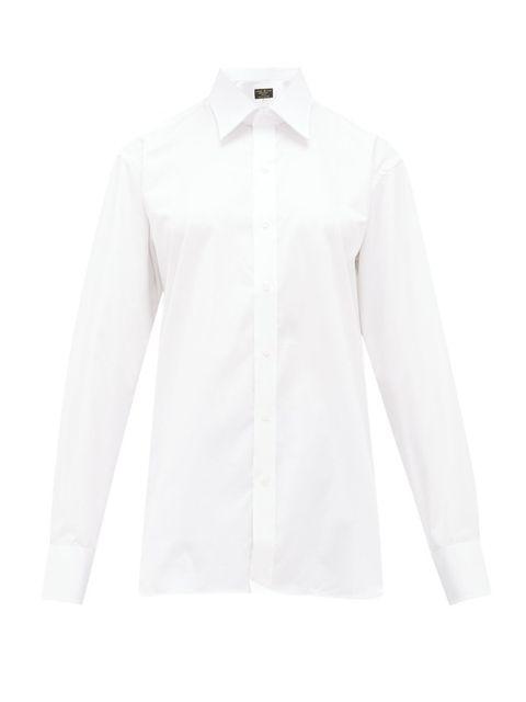 Clothing, Product, Dress shirt, Collar, Sleeve, Textile, Shirt, White, Pattern, Fashion,