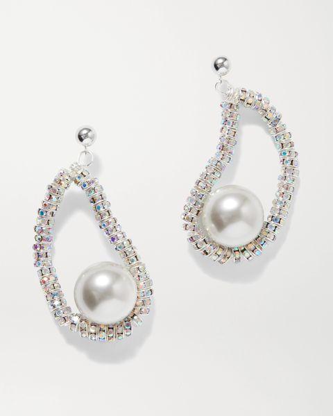 net a portercom pearl crystal pearl octopussy earrings
