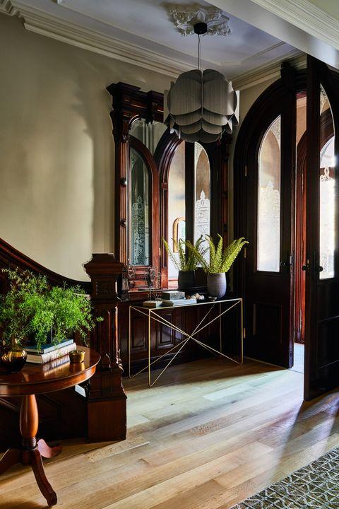Ceiling, Room, Building, Interior design, Property, Furniture, Lighting, Lobby, House, Floor,