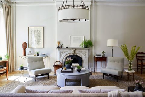 Living room, Room, Furniture, White, Interior design, Green, Property, Ceiling, Coffee table, Building,