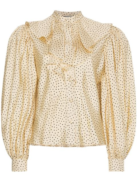 Clothing, White, Outerwear, Beige, Sleeve, Blouse, Top, Shirt, Neck, Pattern,