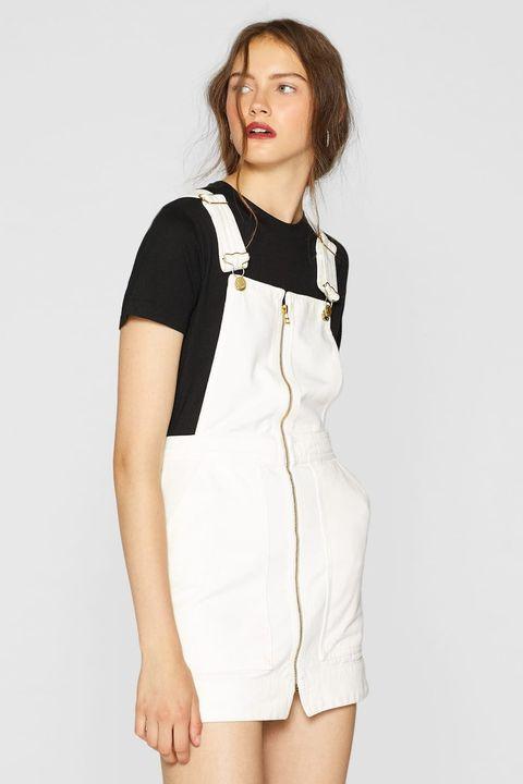 White, Clothing, Shoulder, Neck, Dress, Sleeve, Fashion model, Joint, Waist, Fashion,